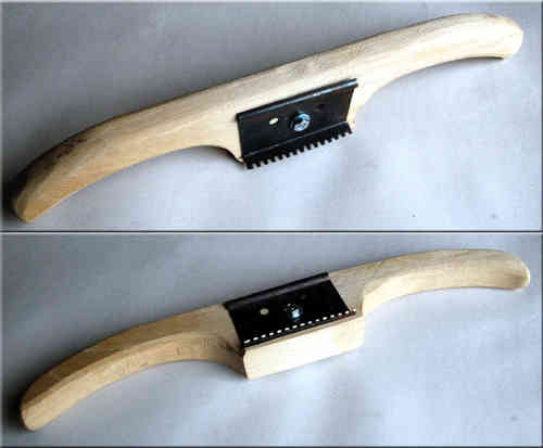 Toothing Tool, with handmade wooden grip
